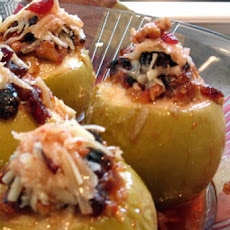 Savoury Baked Apples With Herbed Shallots