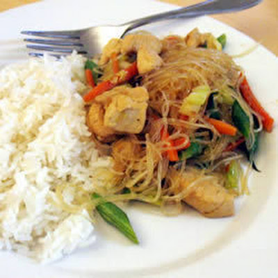 Filipino Chicken and Noodles (Pancit)