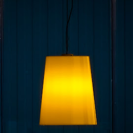 The Lamp by Monica Durbac - Buildings & Architecture Other Interior ( abstract, blue, minimalism, lamp, yellow,  )