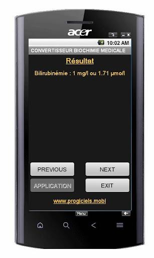免費下載醫療APP|BIOCHIMIE : CONVERTISSEUR app開箱文|APP開箱王