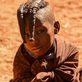 Himba Tribe boy by Gene Myers - Babies & Children Child Portraits ( shotsbygene, himba tribe, africa, hair, boy, gene myers, namibia, Travel, People, Lifestyle, Culture,  )
