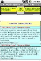 Screenshot of Concorsi Gazzetta Ufficiale