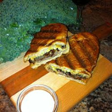Roast Beef Panini with Caramelized Shallots and Roquefort