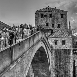 most by Branislav Rupar - Buildings & Architecture Bridges & Suspended Structures ( herzegovina, jump into the water, stone, tourism, river neretva, town, bridge, nikon, antiques )