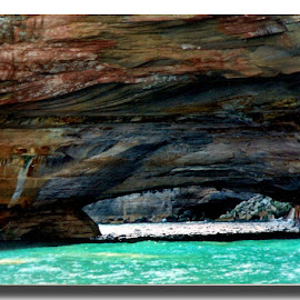Pictured Rocks, Michigan by Christine Weaver-Cimala - Landscapes Caves & Formations ( path, nature, landscape )