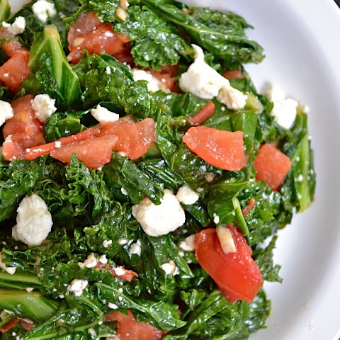 Kale With Tomato & Feta