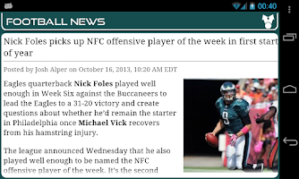 Screenshot of Philadelphia Football News
