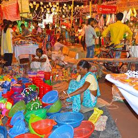 The Fairs  by Dwijendra Lal Chowdhury - City,  Street & Park  Markets & Shops