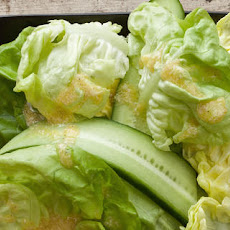 Cucumber and Bibb Lettuce Salad with Creamy Horseradish Vinaigrette