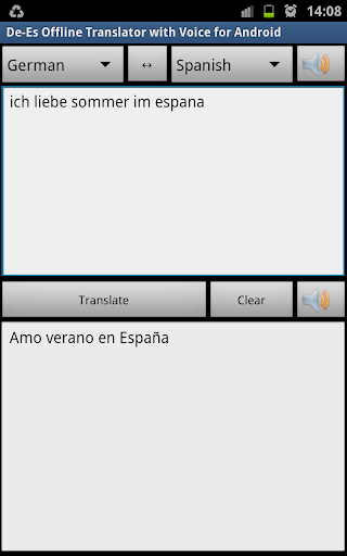 De-Es Offline Translator