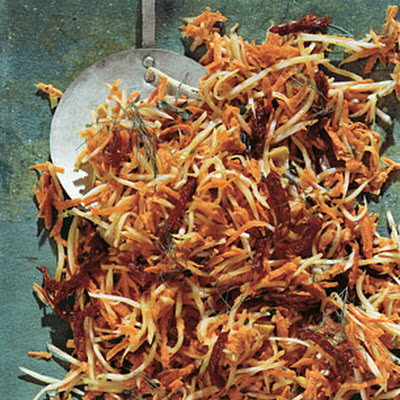 Fennel and Carrot Slaw with Olive Dressing