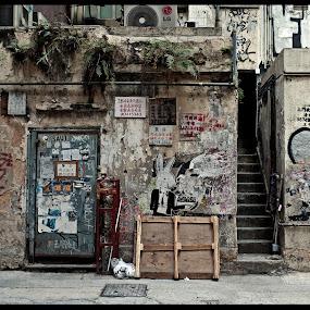 Hongkong Alley Graffitti by Daniel Legendarymagic - City,  Street & Park  Neighborhoods ( habitat, dcp, hongkong, street, gangster, dirty, candid, digicore, travel, legendarymagic, alley )