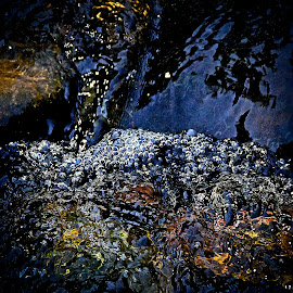 a moving spring by Magdalena Wysoczanska - Nature Up Close Water ( water, moving, bubbles, reflections, rock, alive, synergy, spring, fresh, color, rapids, natural, river )