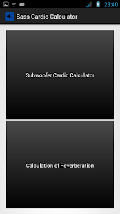 Bass Cardio Calculator (RT) - screenshot