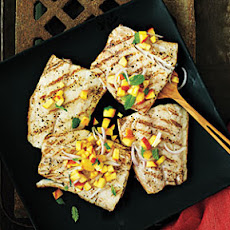Striped Bass with Peach Salsa