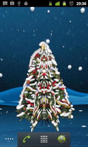 HMA 3D Xmas Tree Wallpaper