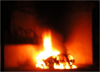 Auto brennend Strafzettel Verkehrskontrolle