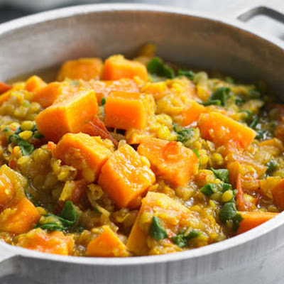 Sweet Potato, Spinach And Lentil Dahl