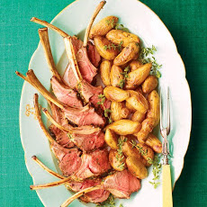 Oregano and Orange Rack of Lamb with Caramelized Fingerling Potatoes