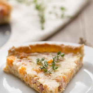 Sweet Potato, Ham and Swiss Tart