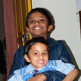 Brother & sister by Prosenjit Malakar - People Family ( sister, brother & sister, son and his cousin, brother, brother and cousin sister,  )
