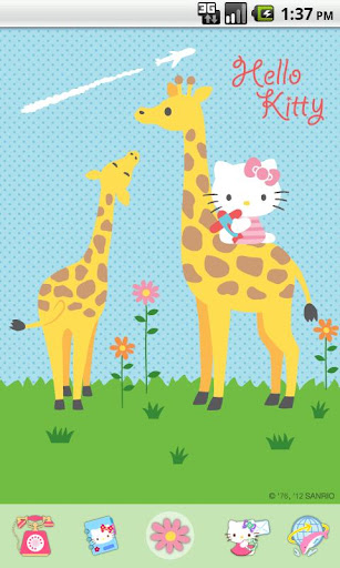 Hello Kitty Giraffe Theme