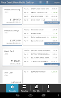 Screenshot of Fiscal Credit Union Mobile App