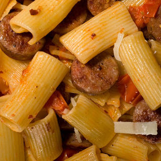 Pasta with Caramelized Tomatoes and Sausage