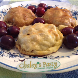 Chaley's Pasties by Emily Samples - Food & Drink Cooking & Baking ( food, color photo, hd, baked food, cherries )