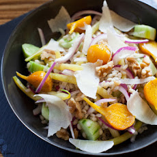 Barley-Wax Bean Salad with Golden Beets & Heirloom Cucumbers