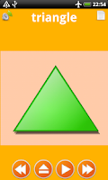 Screenshot of Shapes for kids flashcards