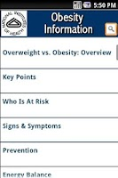 Screenshot of NIH: Obesity Information