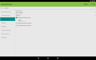 Screenshot of OpenVPN Client