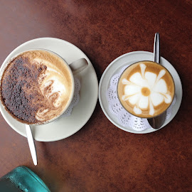 Coffee For Two by Dawn Simpson - Food & Drink Alcohol & Drinks ( designs, coffee, cafe, barista, drinks )