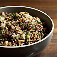 Red Quinoa and Lentil Pilaf
