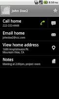 Screenshot of Contact Finder