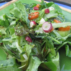 Field Greens With Red Chili Dressing