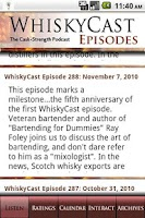 Screenshot of WhiskyCast