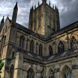 Wells Cathedral  by Simon Eastop - Buildings & Architecture Places of Worship ( wells, somerset, spire, exterior, cathedral )