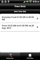 Screenshot of Schedule Silent Mode