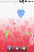 Screenshot of Valentine Candy LWP