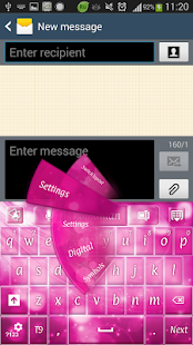 GO Keyboard Pink Sparkle - screenshot