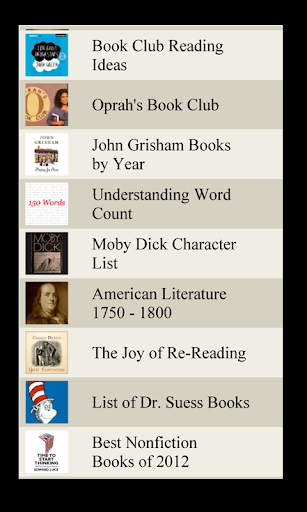Book lists