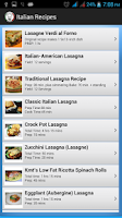 Screenshot of Italian Recipes