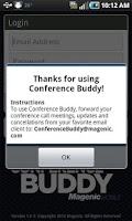 Screenshot of ConferenceBuddy