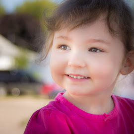 Sweet Smile by Shari Brase-Smith - Babies & Children Toddlers ( child candid, sweet smile, child portrait, smile, toddler, close up )