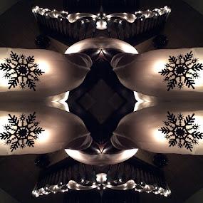 Christmas Kaleidoscope  by Lisa Ehrlich - Public Holidays Christmas ( christmas lights, mood, mood factory, holiday, christmas, hanukkah, red, green, lights, artifical, lighting, colors, Kwanzaa, blue, black, celebrate, tis the season, festive )