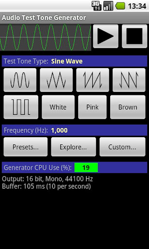 Audio Test Tone Generator