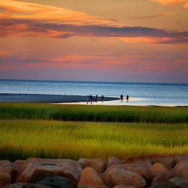 Cape Cod Beach by Rahul Phutane - Landscapes Beaches ( beaches, rahulphutane, sunset, rahul, cape cod beach, evening,  )