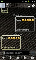Screenshot of GO SMS Pro Carbon Fiber Theme